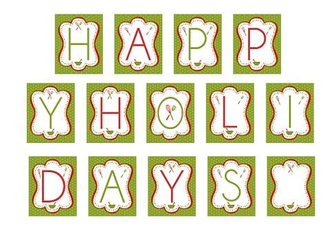 printable xmas banner happy holidays printable banner christmas crafts