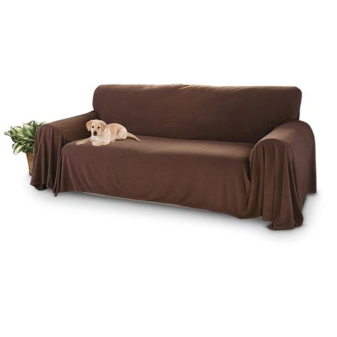 Surefit Sofa Cover by Surefit 174 Fleece Sofa Cover Chocolate 297527 Furniture