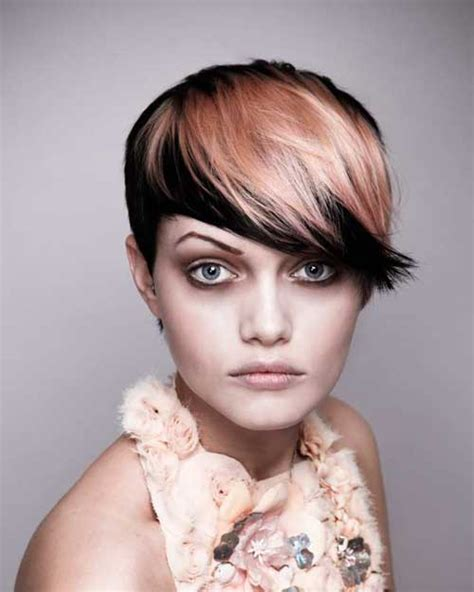 two color pixie cut best hair color for short hair short hairstyles 2017