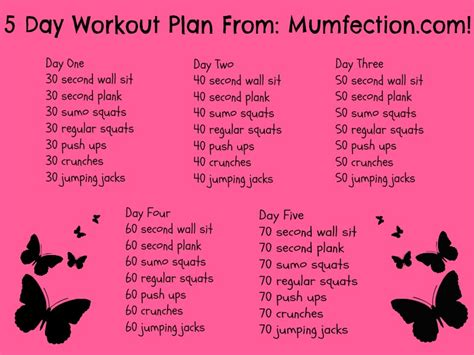 5 day workout plan for beginners most popular workout
