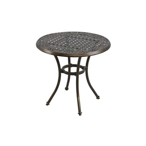 Hton Bay Niles Park 30 In Round Cast Top Patio Bistro Patio Bistro Tables