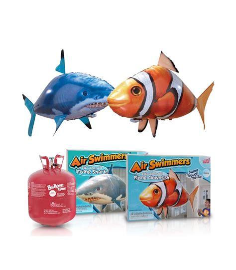 pesci volanti radiocomandati air swimmers pesce clown e squalo radiocomandati bombola
