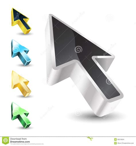cursor color cursor with color variations stock images image 30219504