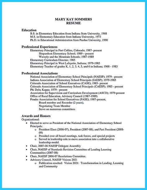 Principal Resume Template by An Effective Sle Of Assistant Principal Resume
