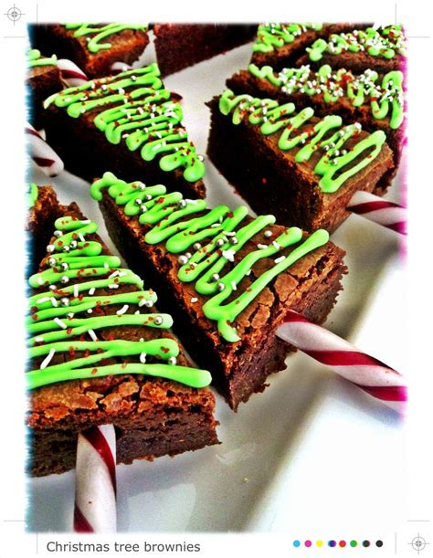christmas tree brownies mrs b cakes pinterest