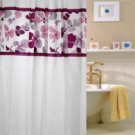 Beautiful Shower Curtains And Beautiful White Shower Curtain With Floral Patterns