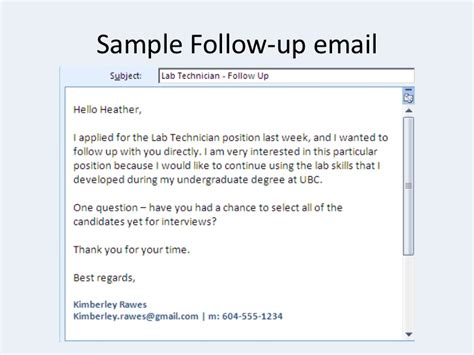 Follow Up Letter After Career Fair Crash Course How To Search For A
