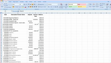 Club Treasurer Spreadsheet by Spreadsheets Databases Integrating Technology In The