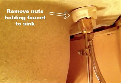 how to replace a kitchen faucet handymanhowto com remove kitchen faucet plastic nuts room image and