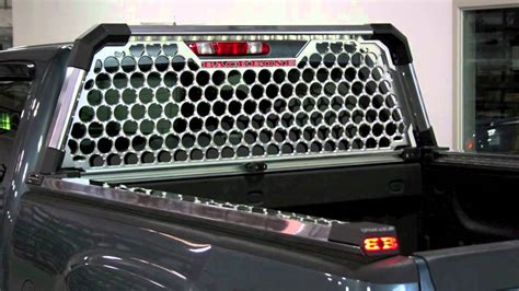 truck back rack with lights backbone truck racks youtube