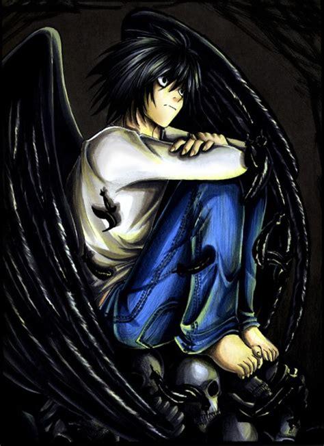 Kameja Anime L One L Dheat Note 1 l lawliet 348208 zerochan