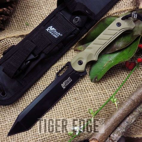 tactical knives fixed blade mtech 11 quot tactical slim fixed blade black desert tanto