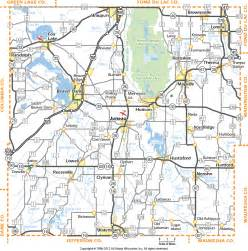 dodge county wisconsin map