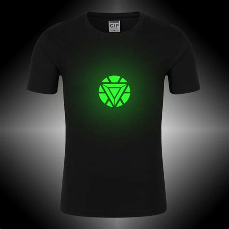 T Shirt Lengan Panjang Arrow Glow In The 08 Black High Quality 100 cotton new 2017 comic marvel iron t shirt for boy fitness clothing