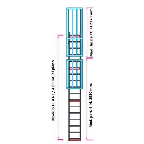 scala con gabbia scale con gabbia di protezione modulare n 176 10