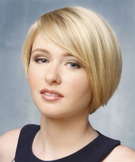 shortest hairstyle short straight hairstyle light blonde hair color