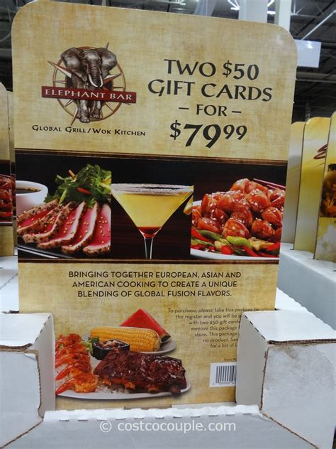 Discounted Gift Cards At Costco - elephant bar discount gift card