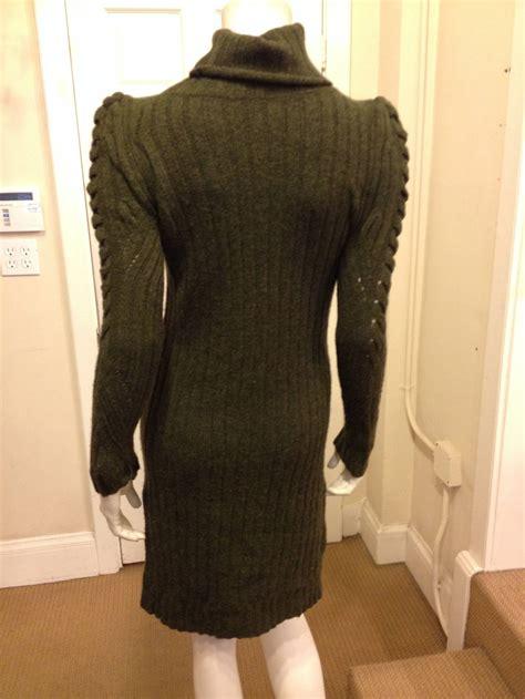 olive green knit sweater olive green knit sweater dress at 1stdibs