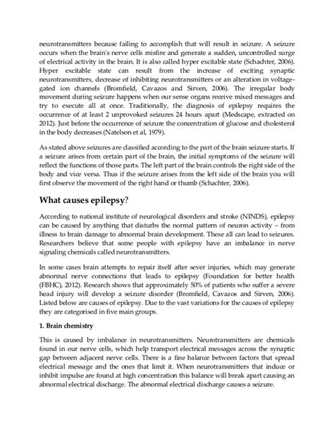 Epilepsy Research Paper by Research Paper On Epilepsy