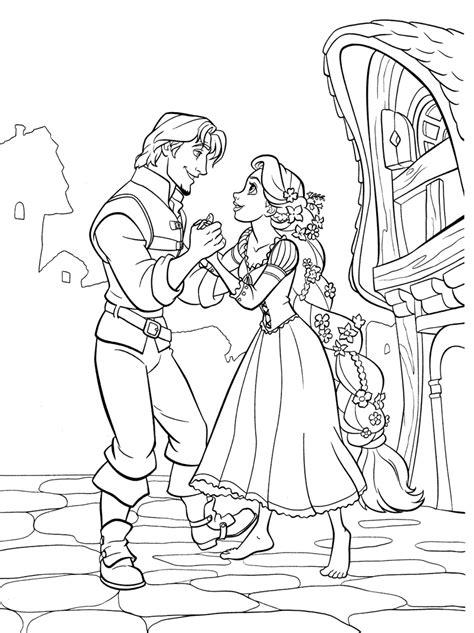 Coloriage Raiponce Et Flynn Rider 224 Imprimer Coloriage Disney Descendants L