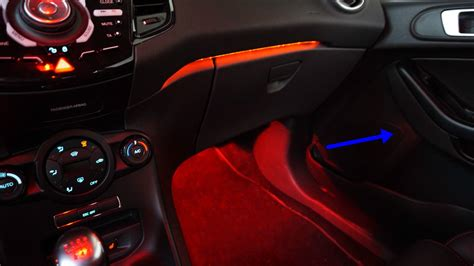 ford fiesta mk st  ambientebeleuchtung led module
