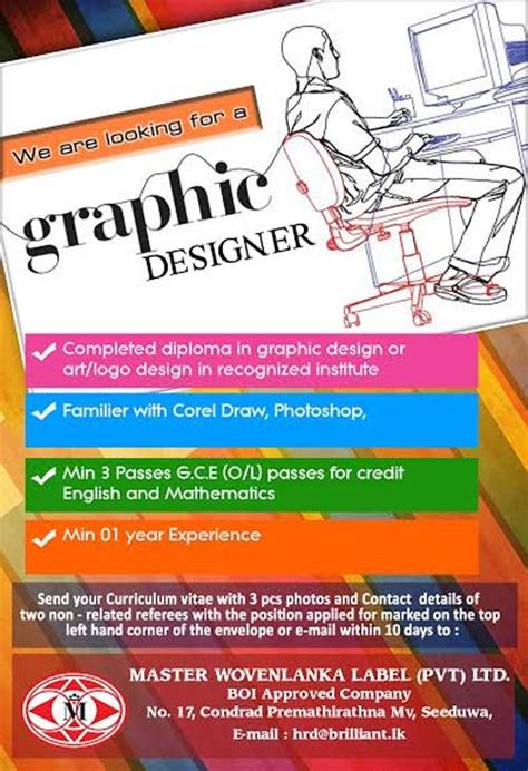graphic design vacancy indonesia vacancy for a graphic designer at master wovenlanka label