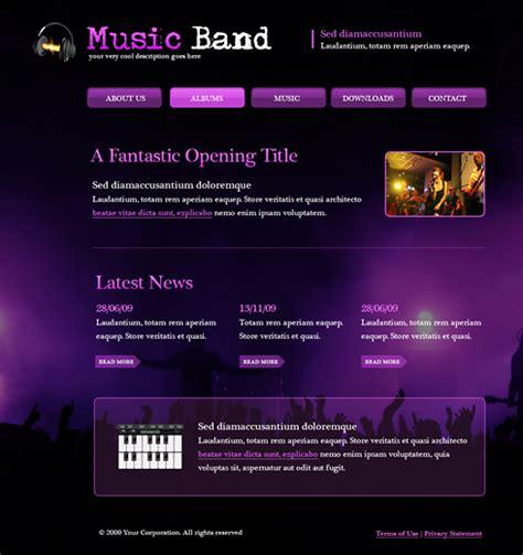 5995 music website templates dreamtemplate
