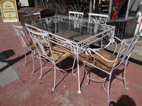 vintage wrought iron patio furniture lighting decoration