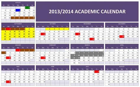 academic calendar excel templates