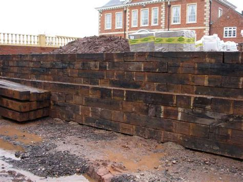 Retaining Walls Sleepers by Railway Sleepers