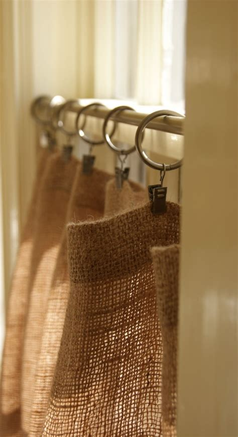 burlap curtains diy hessian burlap cafe curtains or shower curtain with