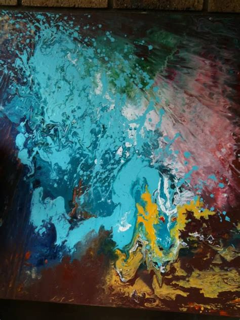 how many coats of acrylic paint on canvas water sold acrylic free flow poured paint on