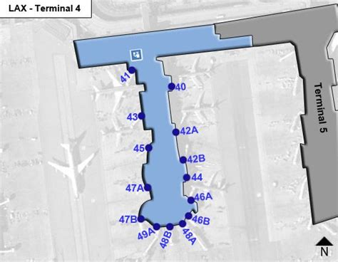 los angeles airport lax terminal 4 map