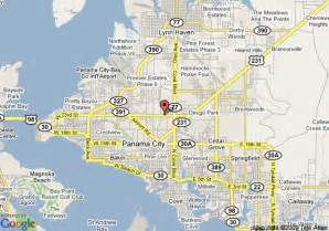 florida panama city map map of howard johnson inn panama city panama city