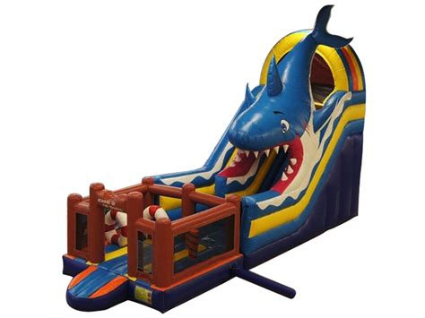 inflatable mutliplay shark slide review cheap custom