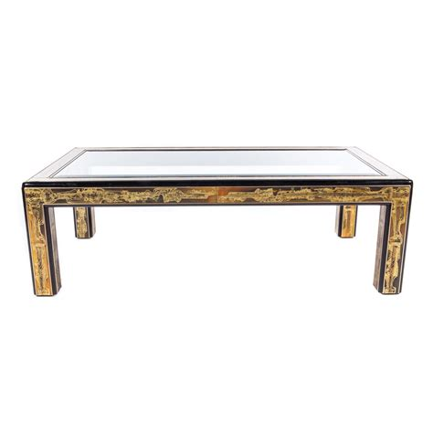 mastercraft coffee table in acid etched brass by bernhard