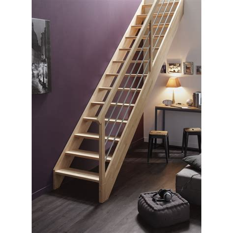 escalier droit leroy merlin 1146 escalier droit structure bois marche bois