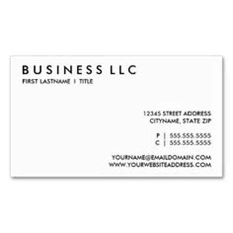 plain white business card template professional modern minimalist business card
