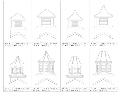 Roof Cupola Plans by Cbellsville Residential Cupolas
