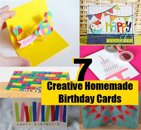 Creative Ideas For Birthday Card 7 Simple And Creative Homemade Birthday Cards Diy Home