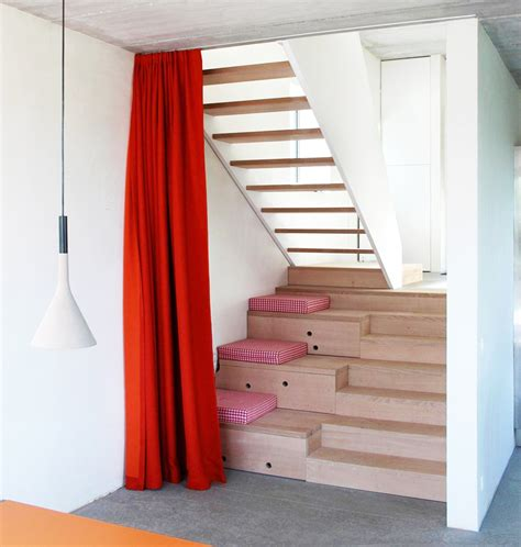 Narrow Stairs Design Narrow Lot Uses Modern Fortress Wall For Privacy From