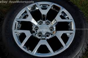 Gmc Truck 20 Wheels 2014 Gmc 20 Quot Oem Chrome Wheels Tires Chevy Tahoe