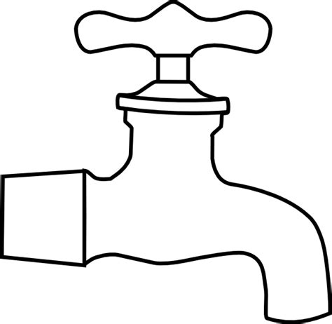 coloring page of water spout water faucet clip art at clker com vector clip art