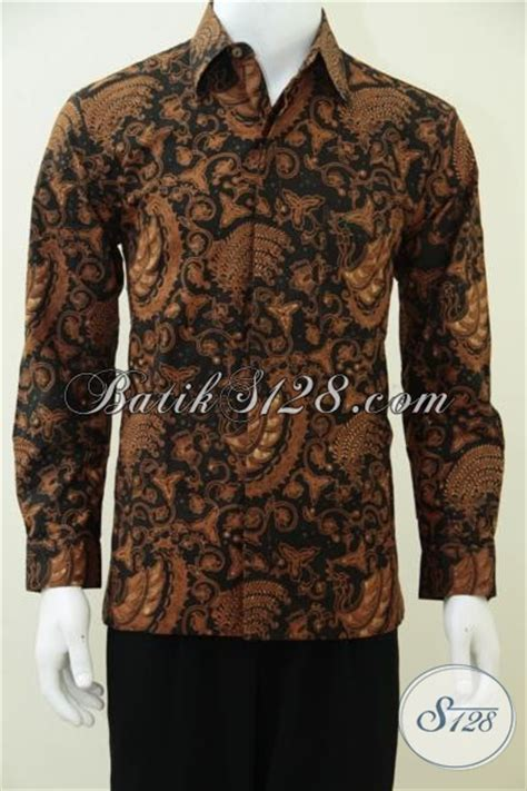 Baju Lengan Panjang Untuk Pria baju hem lengan panjang batik pria furing bagus untuk kondangan rapat meeting client