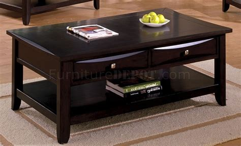 Espresso Finish Coffee Table Cm4265dk Baldwin Coffee Table In Espresso W Options