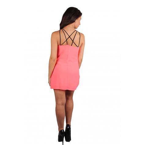 Zahra Pink Dress by Zara Caged Neckline Pink Dress Parisia Fashion