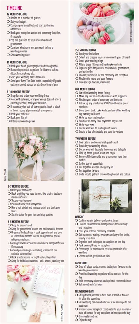 Wedding Checklist And Timeline by What Now Your 12 Month Wedding Planning Checklist And