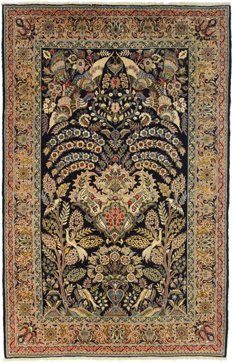 5 x 9 rug 5 x 9 silk wool qum rug 14355
