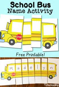 Name Puzzle Template by School Name Activity With Free Printable