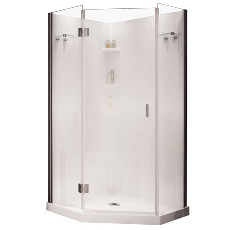maax yarrow neo angle polystyrene frameless shower kit